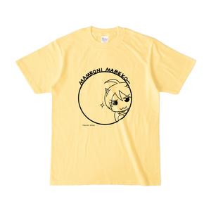 まめ公Tシャツ no.5 ライトイエロー