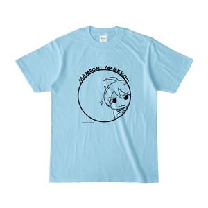 まめ公Tシャツ no.5 ライトブルー