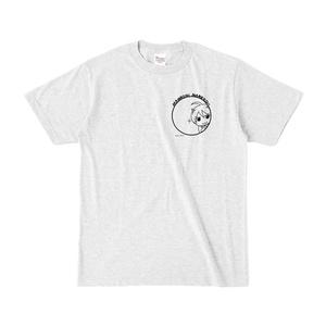 まめ公Tシャツ no.5-2 アッシュ