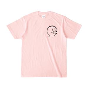 まめ公Tシャツ no.5-2 ライトピンク