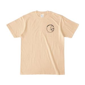 まめ公Tシャツ no.5-2 ナチュラル