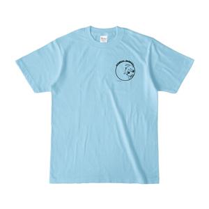 まめ公Tシャツ no.5-2 ライトブルー