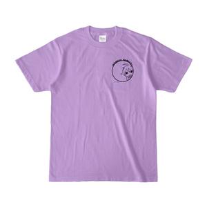 まめ公Tシャツ no.5-2 ライトパープル