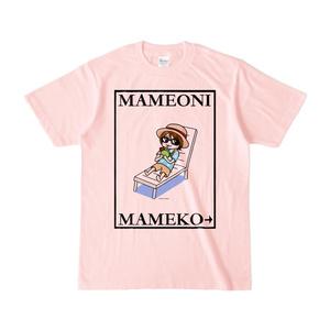 まめ公Tシャツ no.6 ライトピンク