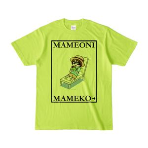 まめ公Tシャツ no.6 ライトグリーン