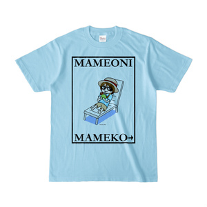 まめ公Tシャツ no.6 ライトブルー