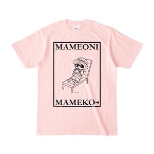 まめ公Tシャツ no.6-2  ライトピンク