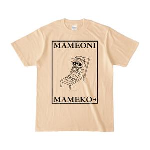 まめ公Tシャツ no.6-2 ナチュラル