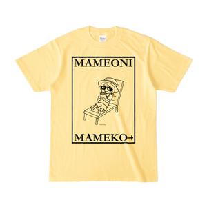 まめ公Tシャツ no.6-2 ライトイエロー