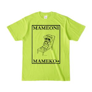 まめ公Tシャツ no.6-2 ライトグリーン