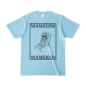 まめ公Tシャツ no.6-2 ライトブルー