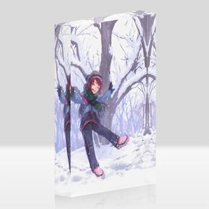 「冬が舞う」アクリルブロック