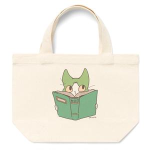 本を読むハチワレ トート【受注生産】