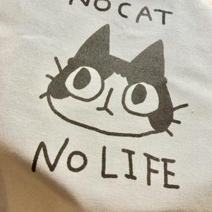 NO CAT NO LIFE マルシェバッグ