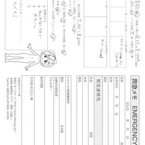 救急メモ/体調ノート使い方
