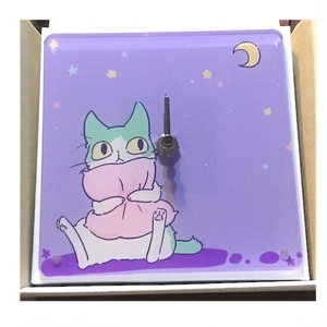 おやすみハチワレ時計【受注生産】