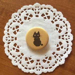 黒猫 クッキー缶バッジ