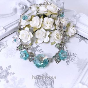 Octagon-stone・太古の空と水の花・ブレスレット