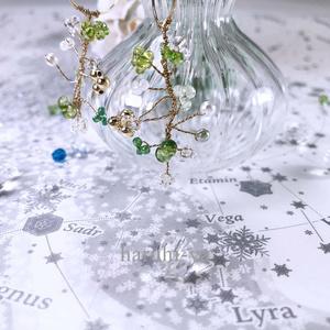 幻想の森植物標本・緑月のランタナ・ピアス
