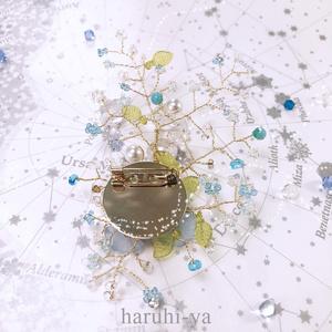 Blue-Flower ・longing sky~想い出~・ブローチ