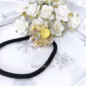 Flower bloom・マリーゴールド・ヘアゴム