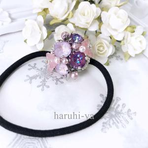 Flower bloom・サフィニア・ヘアゴム