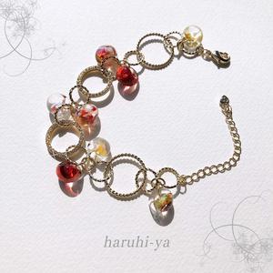 【受注製作】Drop Song・夕焼けに秋桜、そして通り雨・ブレスレット