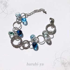 【受注製作】Drop Song・Blue water and Shower of the flower・ブレスレット