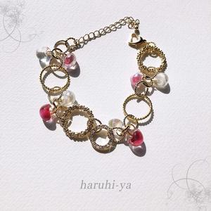 【限定】Drop Song・Pink flower and Shower in the sunshine・ブレスレット