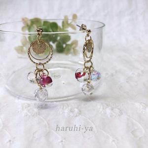 【限定】Drop Song・Pink flower and Shower in the sunshine・ピアス