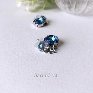 【限定】Jewel-Flower・青の太陽・ピアス