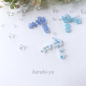 【限定】Petite-lab・Milky-flower&Splashs・四連ピアス