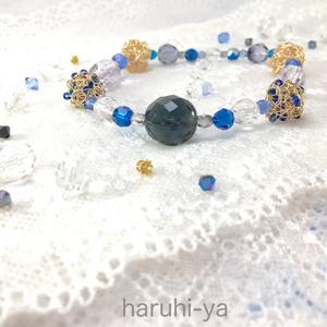 星屑と遊ぶ月・濃藍(福本モデル)