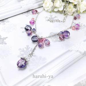 眠り姫・夜更けに灯る茨の花・ネックレス