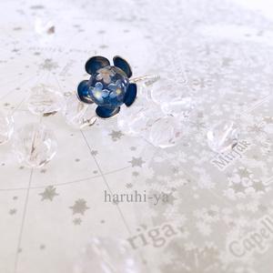 Flower bloom・紺碧色の花言葉・リング