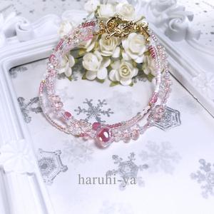 raindrop・Lotus-Pink・ブレスレット