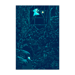 夜の植物園ポストカード