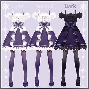 【VRoid用】ハロウィンドレス-10点セット-【Happy Halloween!!】
