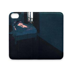手帳型iPhoneケース(ベルトなし)「寝室」