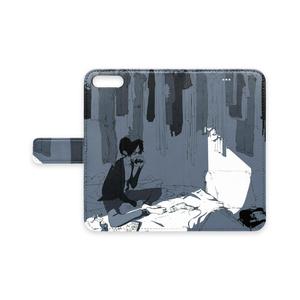 手帳型iPhoneケース 「洗濯」