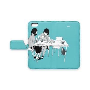 手帳型iPhoneケース 「休み時間」