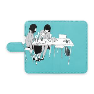 手帳型Androidケース 「休み時間」