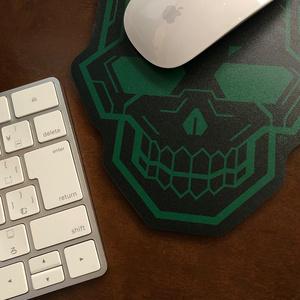 マウスパッド[Green_skull]