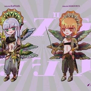 【天使/堕天使一体型アクキー】ズボンズラサレテンシシリーズ/アクリルキーホルダー