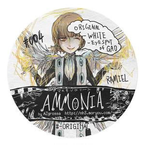 #004:ORIGINAL-WHITE-EYESPOT by GAD /Ammonia Masking tapes