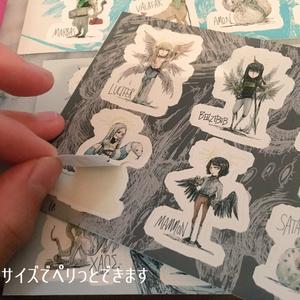 ANGEL/DEMON/GREEK MYTHシール(Big)/(Small)(全8種類) 天使/悪魔/ギリシャ神話キャラクターシール 大/小
