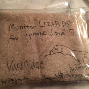 【自宅発送】Monitor lizards/for iphone6, iphone7 case ※別スマホ用のケースは受注生産です/Ammonia