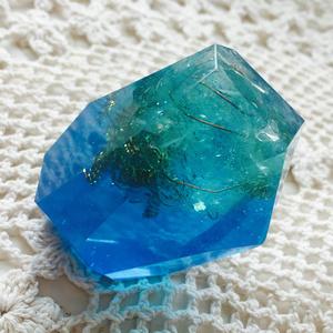 ロックオルゴナイト《水晶》ブルー×グリーン