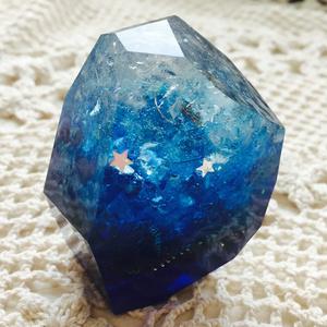 ロックオルゴナイト《水晶×アメジスト》グラデーションブルー