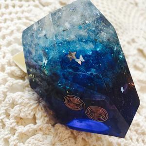 ロックオルゴナイト《水晶》グラデーションブルー2